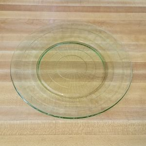 Vintage Dining - Uranium Glass Plate